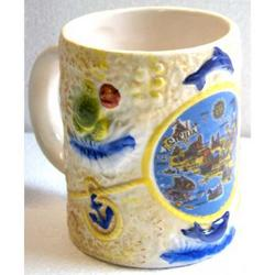 Tazza Sicilia con manico in ceramica cm 10x8