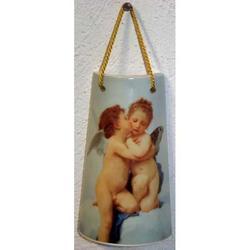 Tegola con Angeli abbracciati cm 10x6