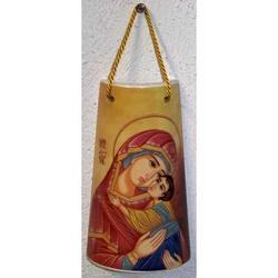 Tegola Madonna con Bambino cm 10x6