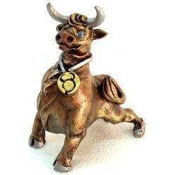 Statua Segno Zodiacale Toro in resina cm 10x8x5