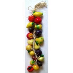 Treccia con frutta mista in terracotta da cm 40