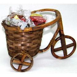 Triciclo in canna intrecciata cm 19x16x25