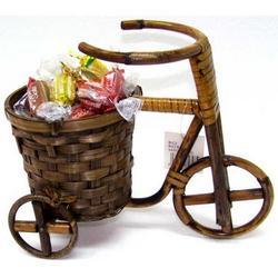 Triciclo in canna intrecciata cm 22x13x27