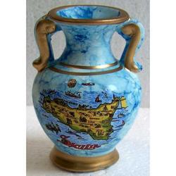 Vaso con Sicilia in terracotta cm 7.5
