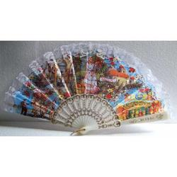 Ventaglio souvenir siciliano con foto cm 45x25
