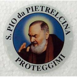 Vetrofania San Pio da Pietrelcina cm 4.5