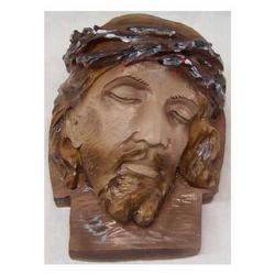 Volto di Cristo cm 19x11 in resina